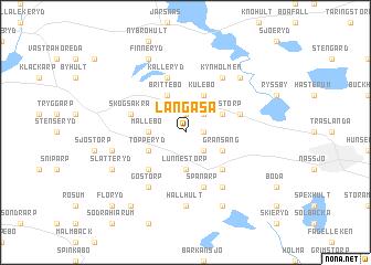 map of Långåsa