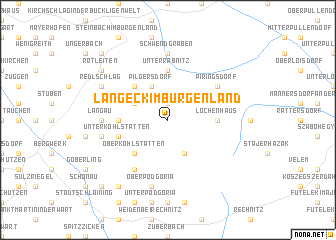 map of Langeck im Burgenland
