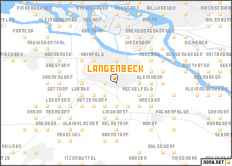 map of Langenbeck