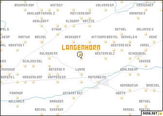 map of Langenhörn
