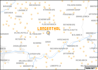 map of Langenthal
