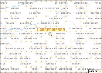 map of Langenwiesen