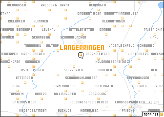 map of Langerringen