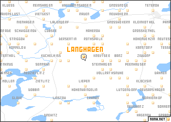 map of Langhagen
