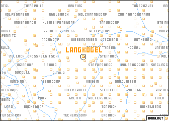 map of Langkogel