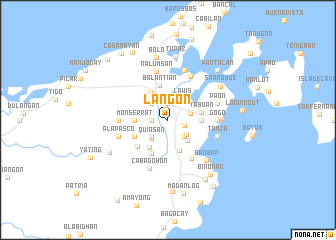 map of Lañgon