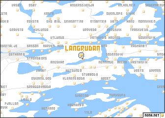 map of Långrudan