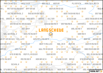 map of Langschede