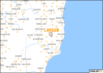 map of Langub