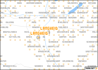 map of Langweid