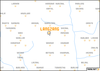 map of Langzang