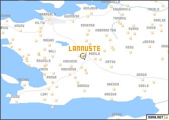 map of Lannuste