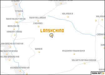 map of Lanshchino