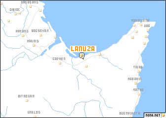 map of Lanuza