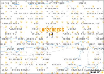 map of Lanzenberg
