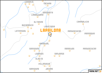 map of La Pailona