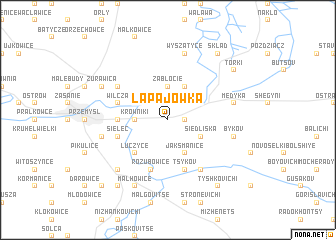 map of Łapajówka