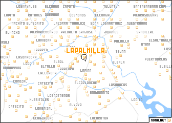 map of La Palmilla