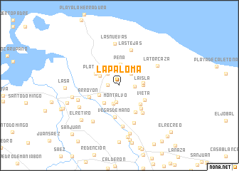 map of La Paloma