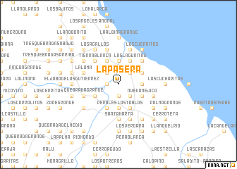 map of La Pasera