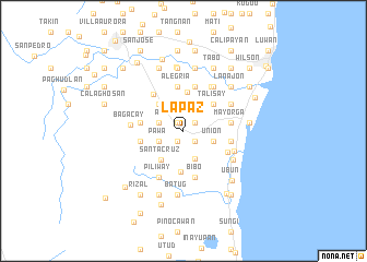 La Paz Philippines Map Nonanet - la paz map