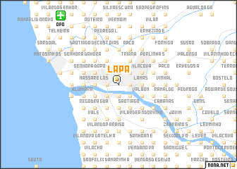 map of Lapa