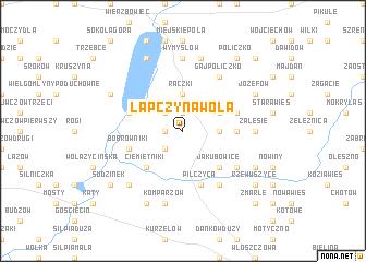 map of Łapczyna Wola