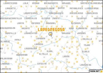 map of La Pedregosa