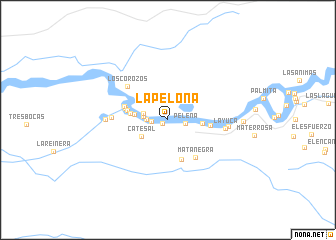 map of La Pelona