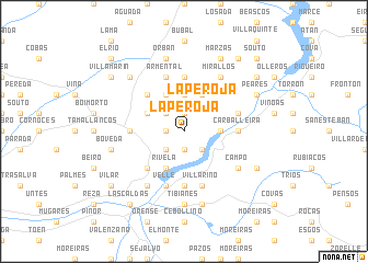 map of La Peroja