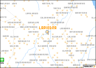 map of La Piedra