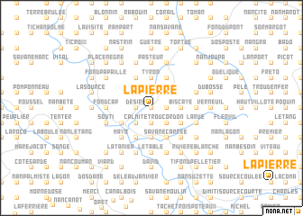 map of La Pierre