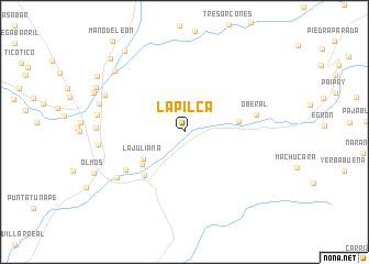 map of La Pilca