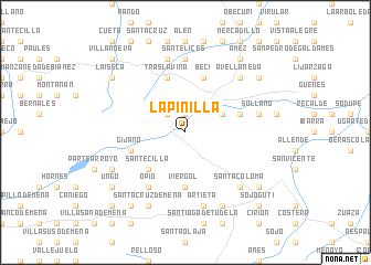 map of La Pinilla