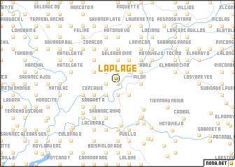 map of La Plage