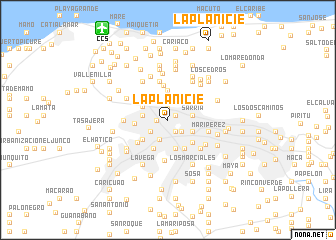 map of La Planicie