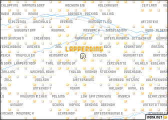 map of Lapperding