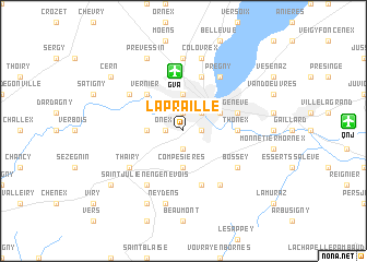 map of La Praille