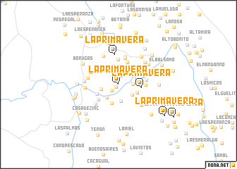 map of La Primavera
