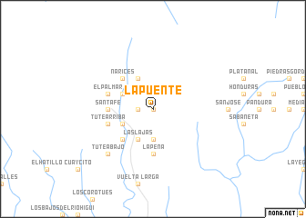 map of La Puente