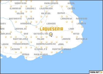 map of La Quesería