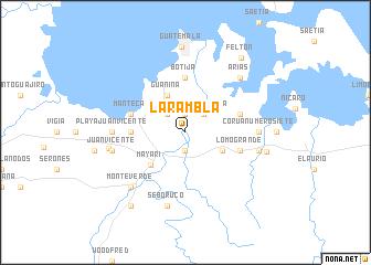 map of La Rambla