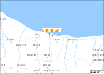 map of Larangan