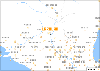 map of Larauan