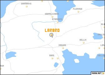 map of Lärbro
