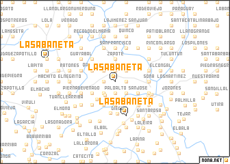 map of La Sabaneta