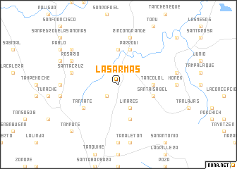 map of Las Armas