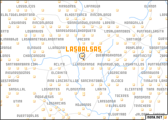 map of Las Balsas