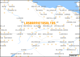 map of Las Barrietas Altas