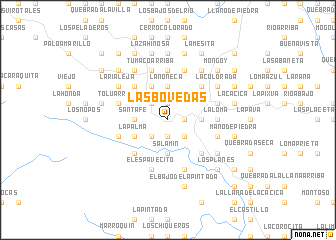 map of Las Bóvedas
